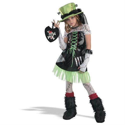 Monster Bride (Green) Child Costume 0