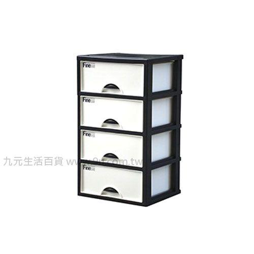 【九元生活百貨】聯府 K404 加賀四層櫃(附輪) 置物櫃 收納櫃