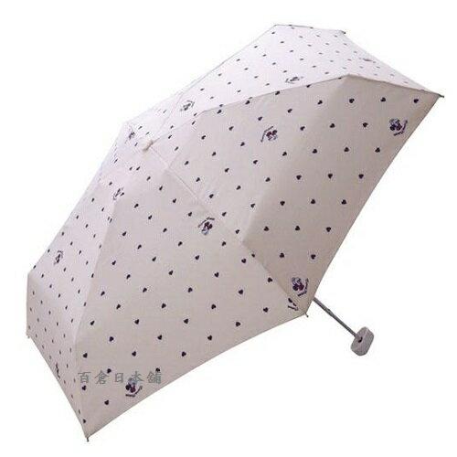 【百倉日本舖】日本進口*新款*w.p.c米妮小愛心折傘(附拉鍊傘袋)雨傘遮陽傘(3色)
