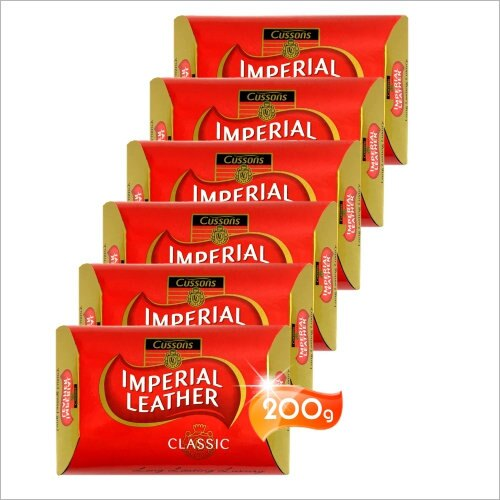 Cussons IMPERIAL LEATHER帝王皂(200g)-6入(經典紅色/潤膚) [55035]