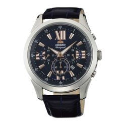 Orient 東方錶(FTW04007D)時尚青春計時腕錶/藍面44mm