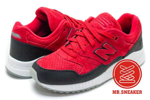 ☆Mr.Sneaker☆NEWBALANCE530M530復古麂皮紅色紅黑男女段
