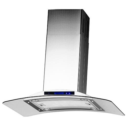 "AKDY 36"" GV-9009-36 Europe Style Stainless Steel Island Range Hood Touch Control 0"