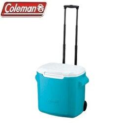 [ Coleman ] 26.5L拖輪置物型冰桶 天空藍 / 公司貨 CM-0029
