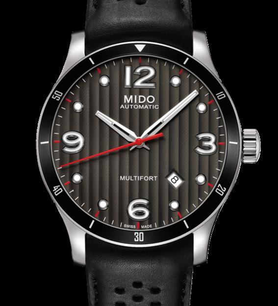 MIDO 美度 Multifort 先鋒系列80小時機械錶 M0254071606100 鐵灰 黑 42mm 0