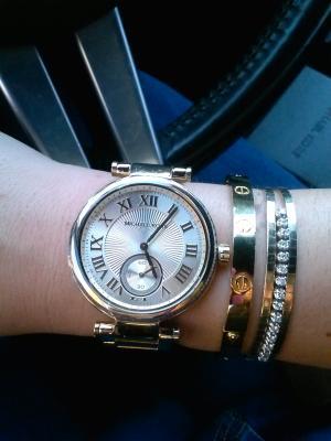 美國Outlet正品代購 MichaelKors MK 復古羅馬數字水鑽  陶瓷  三環 手錶 腕錶 MK5866 9