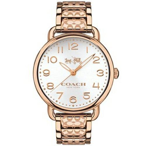 COACH絕對迷人動感時尚腕錶玫瑰金14502497