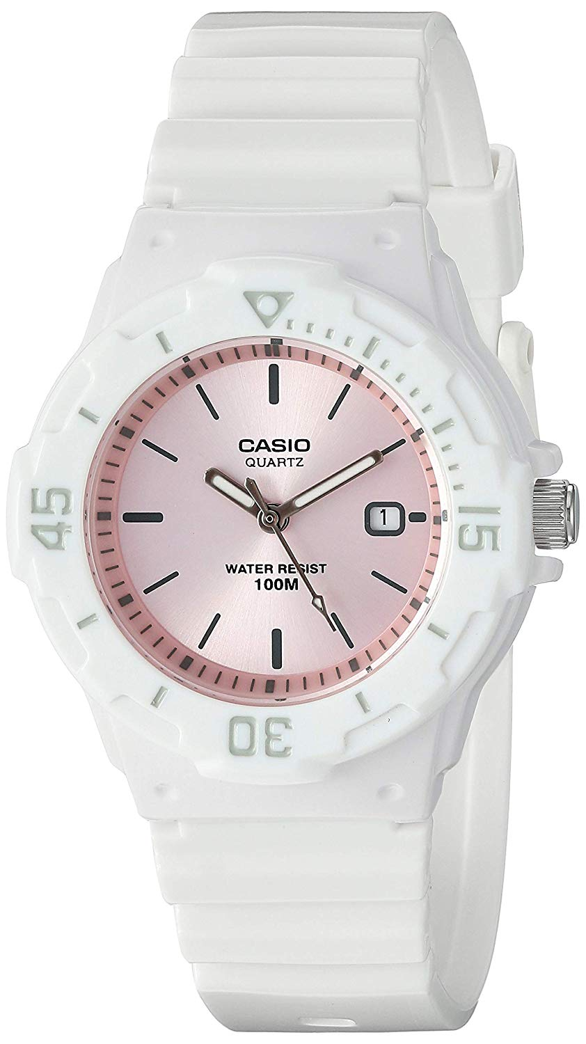 2f9d855f34f2 Casio LRW200H-4E3V Women s White Resin Band Pink Dial 100 Sports Watch 0