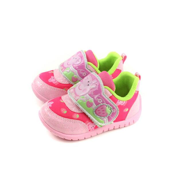 粉紅豬小妹PeppaPig休閒鞋魔鬼氈童鞋粉紅色小童PG6415no716