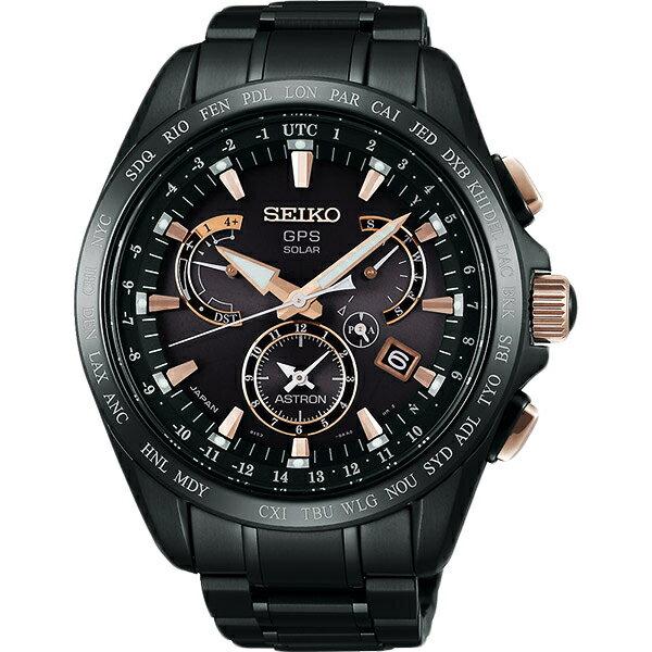 SEIKO ASTRON GPS 鈦 衛星太陽能電波腕錶-黑8X53-0AB0P(SSE075J1