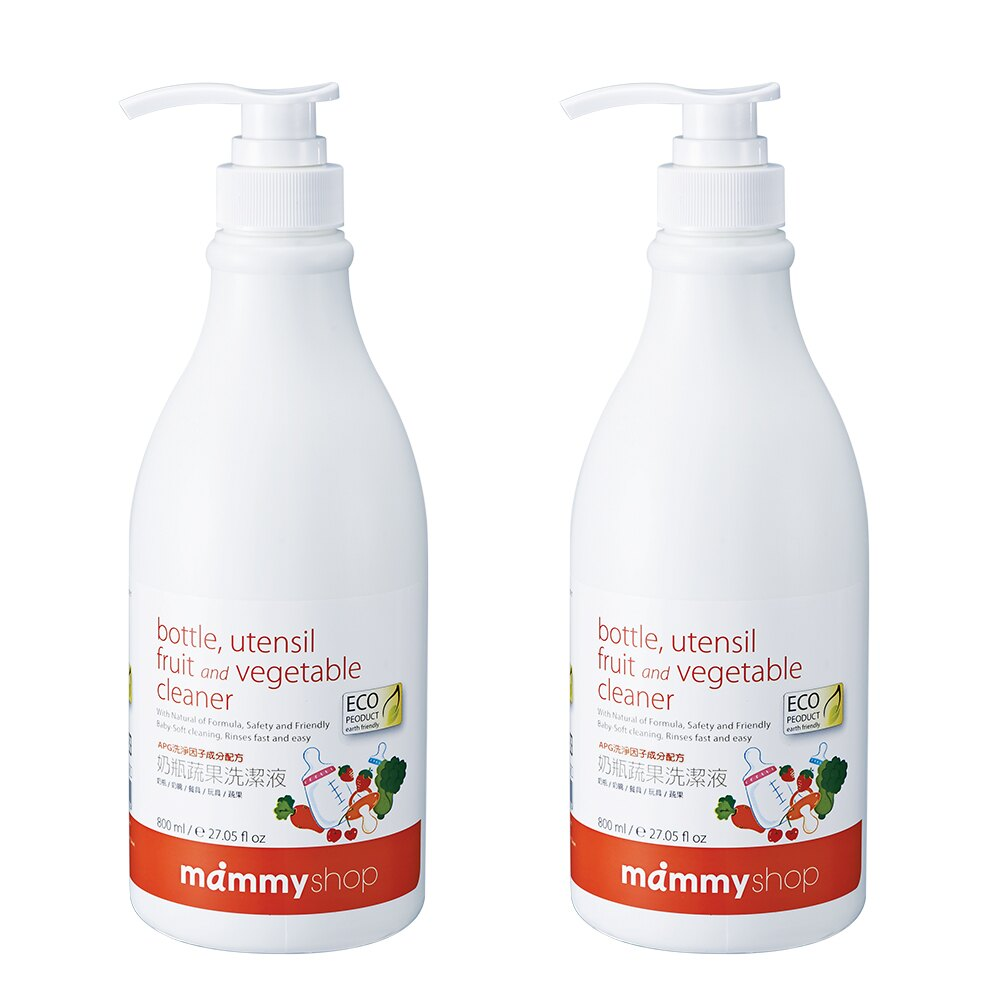 媽咪小站 - 奶瓶蔬果洗潔液(奶蔬清潔劑) 800ml/2入 0