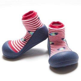 【淘氣寶寶】韓國【Attipas】快樂腳襪型學步鞋-藍底飛碟M