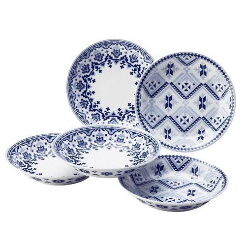 南法風藍紋盤組(5入)