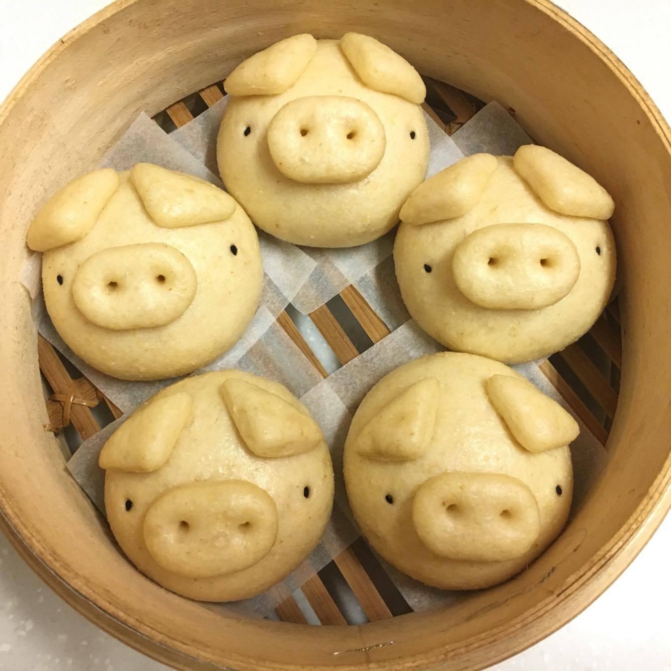 ~ 饅頭~全麥豆漿小豬饅頭  純素   6顆裝  包  健康的麥香最對味!秉持著做給家人吃
