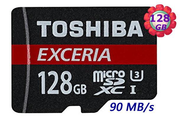 TOSHIBA 128GB 128G microSDXC【90MB/s】EXCERIA micro SD microSD SDXC UHS UHS-I U3 C10 Class 10 原廠包裝 手機記..
