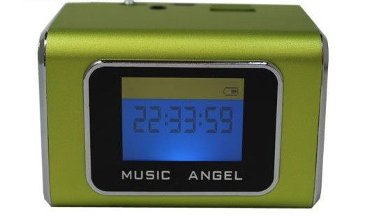 {光華新天地創意電子}音樂天使MD-05X 綠色,含繁體中文字幕,支援MICRO SD卡 / USB隨身碟 喔!看呢來