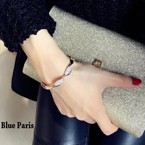手鍊 - 韓版螺旋造型水鑽手鐲【21548】 藍色巴黎 《2色》現貨+預購  【防過敏】 0
