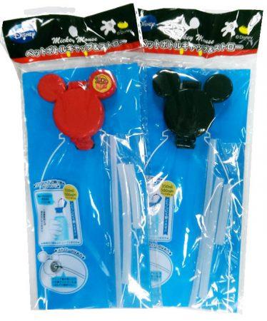 空運回台 迪士尼 米奇頭寶特瓶吸管組(黑/紅)不挑色 出貨
