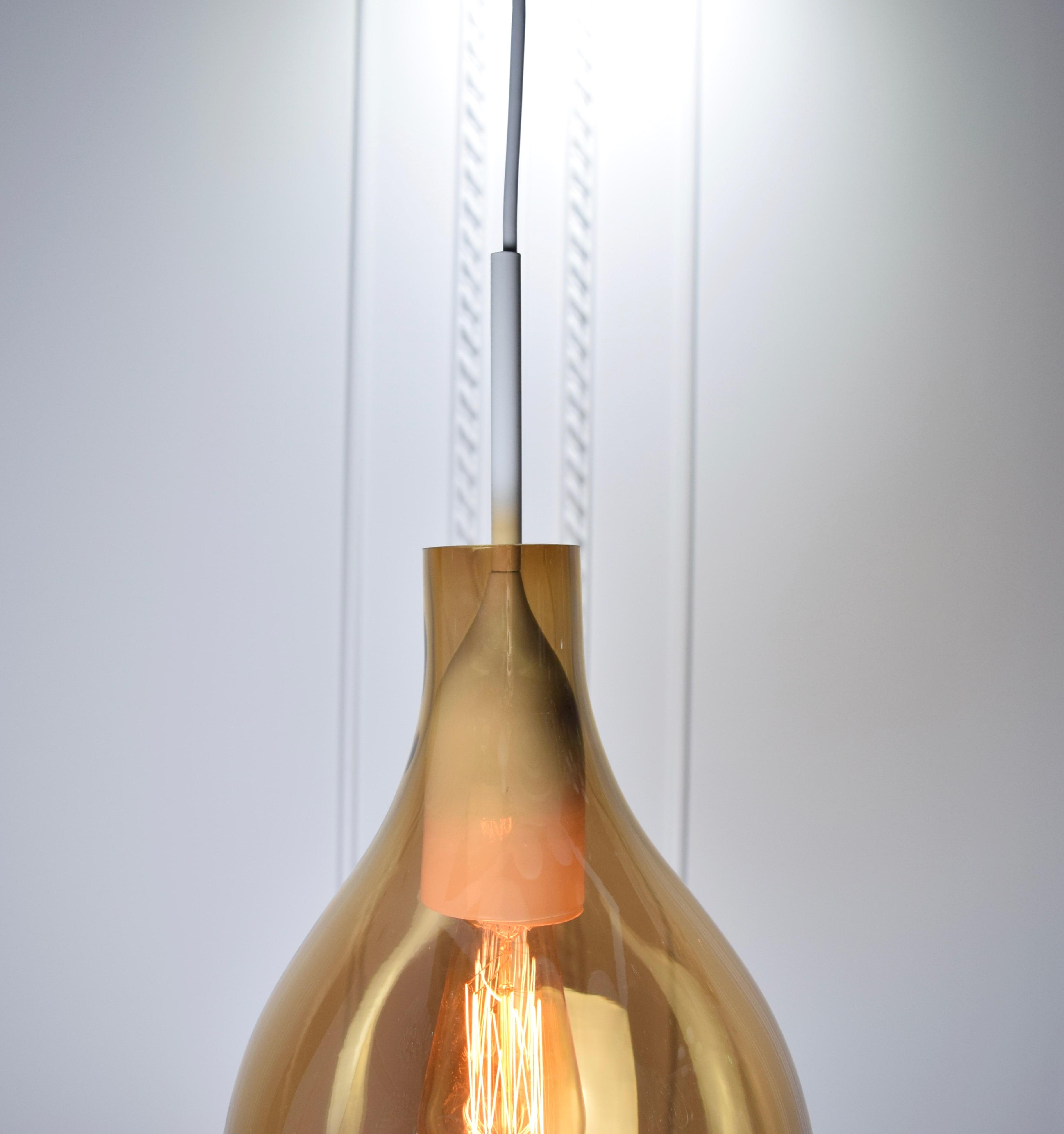VESSEL 斜口玻璃琥珀色吊燈-BNL00126 6