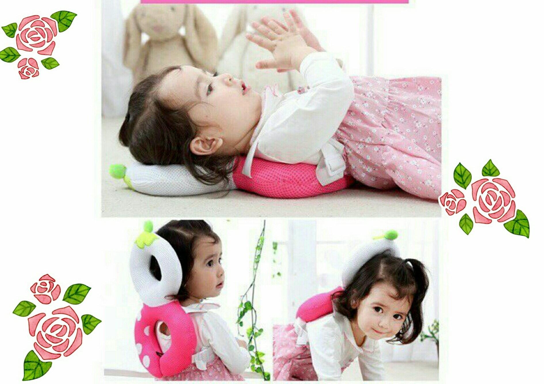 寶寶防摔頭部安全保護墊子嬰兒學步護頭枕兒童頭部防撞壂/透氣背帶安全背帶