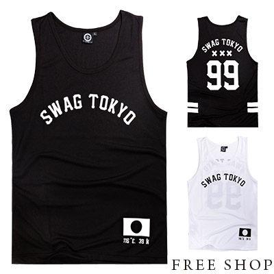 《Free Shop》Free Shop【QSPG0636】歐美潮流99號TOKYO印花街頭運動球衣棉質背心‧二色 MIT 台灣製