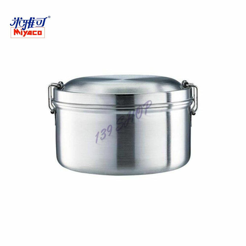 米雅可 經典316雙層圓型便當盒 14cm (108868) 不鏽鋼 可蒸煮 好攜帶 安全耐用 台灣製造【139百貨】