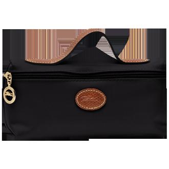 【LONGCHAMP】 LE PLIAGE 化妝包 - 黑色【滿3000領券現折300】