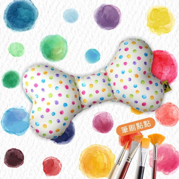 PUKU藍色企鵝-LoDoAir透氣樂豆枕筆刷點點