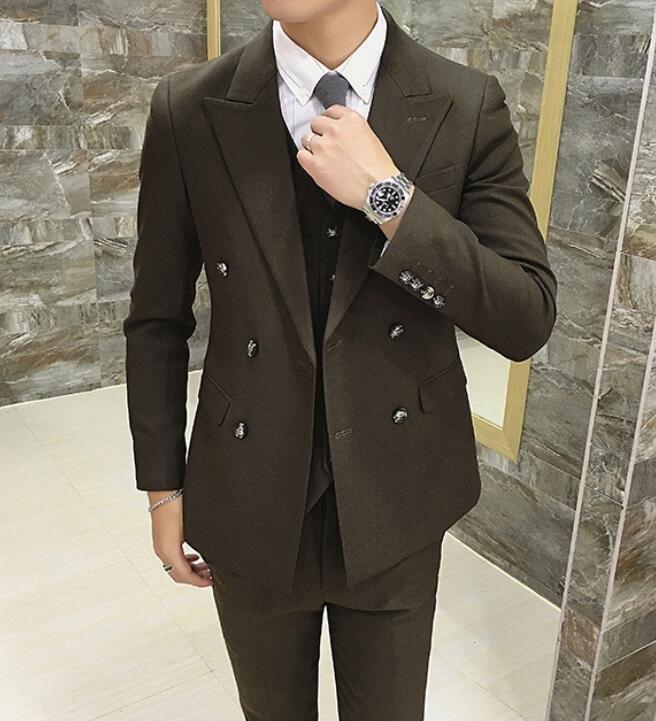 FINDSENSE品牌 韓國男 免燙面料 雙排扣 小西裝 修身西裝 西裝外套 單件外套