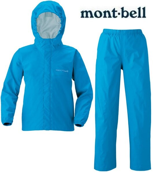 Mont-Bell 兒童雨衣褲組/小朋友風雨衣 登山雨衣雨褲 KLEPPER 兒童款1128131 TQB青藍