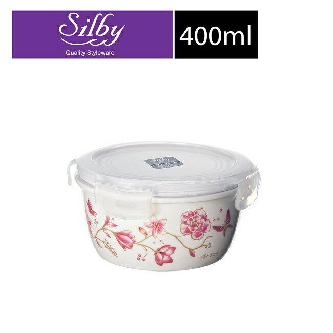 【樂扣樂扣】Silby典雅陶瓷保鮮盒/400ML(春暖花開)