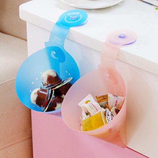 ?MY COLOR?三角帶吸盤瀝水籃 組裝 三角錐 瀝乾 衛生 水槽 廚房 果皮 廚餘 清洗【K81-1】