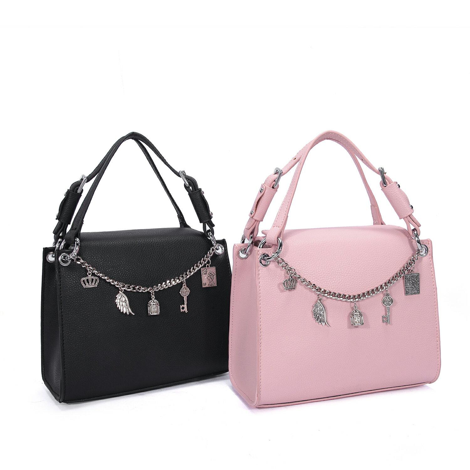 【BEIBAOBAO】東區時尚質感真皮手提包(名媛粉 共二色) 1
