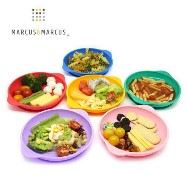 加拿大MARCUS&MARCUS動物樂園幼兒學習吸力餐盤(獅子紅長頸鹿黃河馬藍大象綠粉紅豬鯨魚紫)【寶貝樂園】