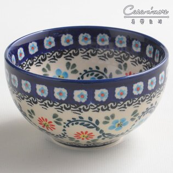 波蘭陶典雅花團系列餐碗飯碗湯碗碗公12cm波蘭手工製