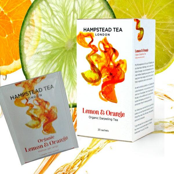 有機檸檬柑橘紅茶~原裝進口英國漢普斯敦有機香草茶Hampstead Tea~檸檬柑橘紅茶