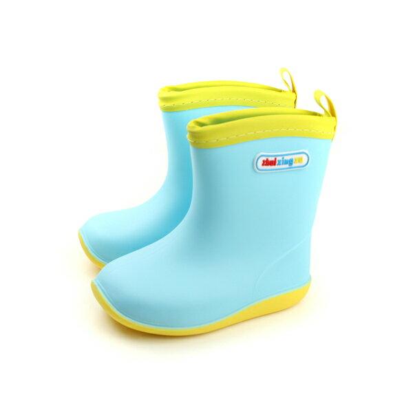 HUMAN PEACE:防水雨靴雨鞋小女生鞋藍色中童童鞋S012-35no022