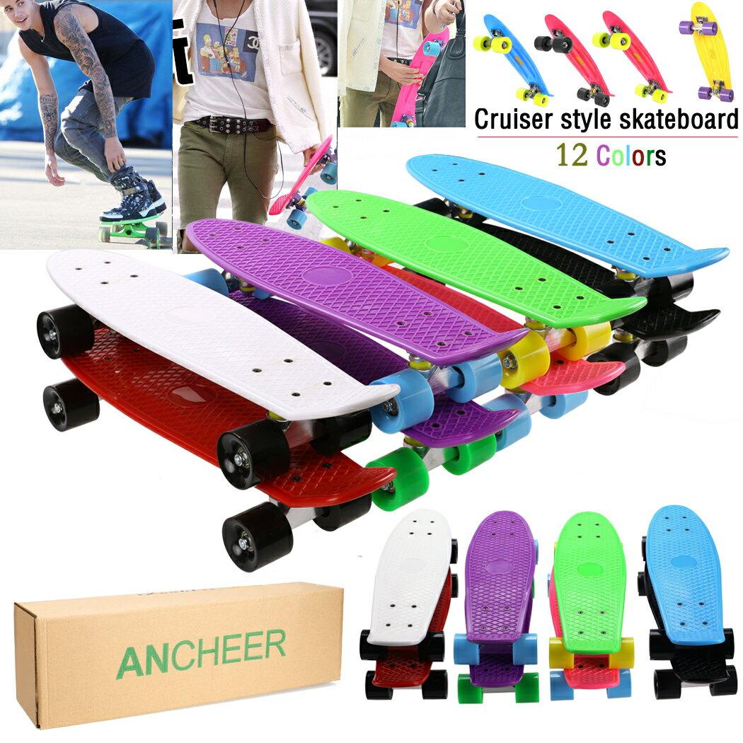 Complete Deck Skateboard Mini Plastic Skate Board 8 Colors 2