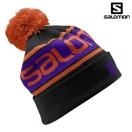 [ Salomon ] Free Beanie 帽 黑 / 絨球帽 / 反折帽 / 公司貨 353021