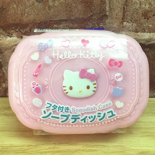 【真愛日本】17052500004 雕花肥皂盒-KT 三麗鷗 Hello Kitty 凱蒂貓 浴室用品 收納 正品 日本帶回