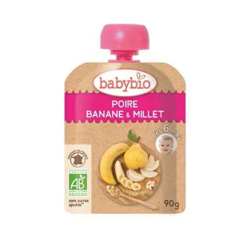 『121婦嬰用品館』法國倍優babybio 有機洋梨小米纖果泥90g(6個月)