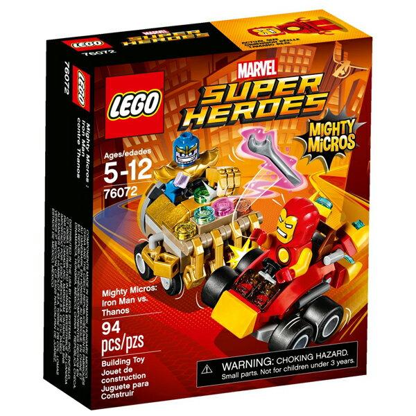【LEGO 樂高積木】 SUPER HEROES 超級英雄系列-鋼鐵人vs 薩諾斯 LT-76072