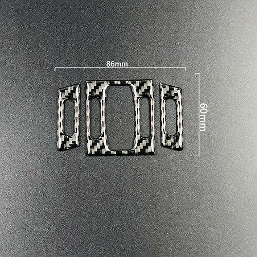 BMW 老5系中央出風口 碳纖裝飾貼 04-10年E60 520 523 525 530 550 沂軒精品 A0445