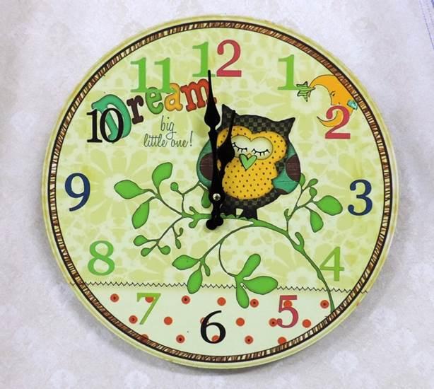 ◤彩虹森林◥《貓頭鷹20》 zakka木製掛鐘 鄉村風木掛鐘 圓形掛鐘 居家布置 玄關掛鐘 貓頭鷹家飾