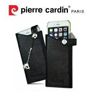 [ iPhone6/6S ] Pierre Cardin法國皮爾卡登4.7吋高級牛皮抽取式真皮手機套/保護套/皮套 黑色
