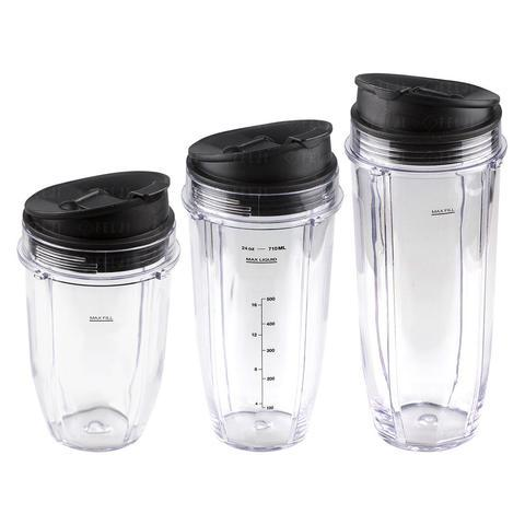 Nutri Ninja 18 24 32 oz Cups with Sip & Seal Lid Replacement Model 427KKU450 483KKU486 407KKU641 91cfc65489a0e89ba668e9758cb98da7