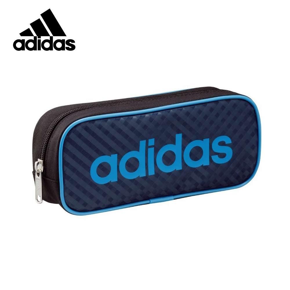 藍色款【日本正版】愛迪達 菱格紋造型 筆袋 鉛筆盒 Adidas x Uni - 210611