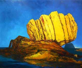 畫作磁鐵-萬里拳頭石【李一鳴】馬口磁鐵 / 身障畫家們透過畫作表達自己對台灣這片土地的愛 7.9cm*5.4cm*1.5cm