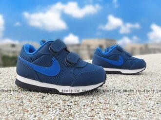 Shoestw【806255-405】NIKE MD RUNNER 2 運動童鞋 小童鞋 深藍 雙黏帶