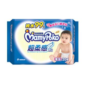 滿意寶寶 純水 超柔感 濕毛巾 外出包 厚型 20張 / 包 0